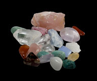 Semi-precious gemstones Stock Photos