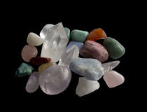 Semi-precious gemstones Stock Photography