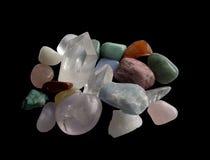 Semi-precious gemstones stock photography