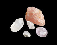 Semi-precious silica rocks Stock Images