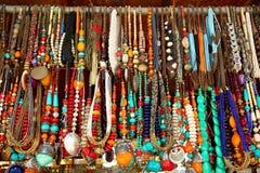 Semi precious stone beads necklace Stock Photo