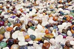 Semi precious stones. stock images