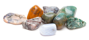 Semi-precious stones isolated Stock Photos