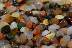 Semi precious stones, Multicolour Stone Pebbles. Many semi precious stone, Multicolour Stone Pebbles stock image