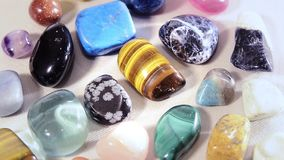 Semi-precious stones stock video footage