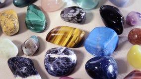 Semi-precious stones stock video