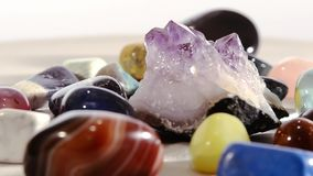 Semi-precious stones stock video