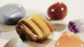 Semi-precious stones. Rotating close up stock video