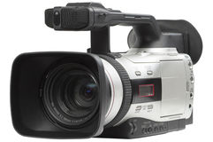 Semi professional camcorder Royalty Free Stock Images