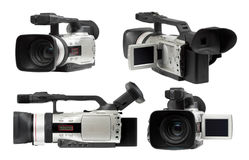 Semi professional camcorders set Stock Photography
