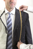 Semi-ready, elegant tailor made suit Royalty Free Stock Images