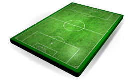 Semi Real Soccer stadium. A 3D Layout of soccer field Royalty Free Stock Images