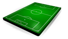 Semi Real Soccer stadium. A 3D Layout of soccer field Stock Photos