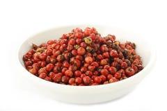 Semi rossi dei granelli di pepe Fotografia Stock