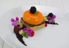 Semi sphere dessert stock image