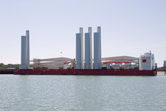 Semi-Submersible Barge Royalty Free Stock Images