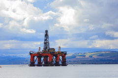Semi Submersible Oil Rig at Cromarty Firth in Invergordon, Scotl Royalty Free Stock Photography