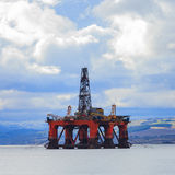 Semi Submersible Oil Rig at Cromarty Firth in Invergordon, Scotl Stock Images