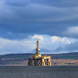 Semi Submersible Oil Rig at Cromarty Firth in Invergordon, Scotl Stock Photos