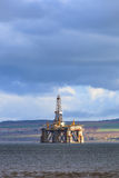 Semi Submersible Oil Rig at Cromarty Firth in Invergordon Royalty Free Stock Images
