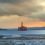 Semi Submersible Oil Rig at Cromarty Firth Stock Images