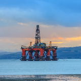 Semi Submersible Oil Rig at Cromarty Firth Royalty Free Stock Photography
