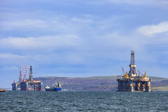 Semi Submersible Oil Rig at Cromarty Firth Royalty Free Stock Images