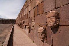 Semi-subterranean Temple in Tiwanaku Stock Photos