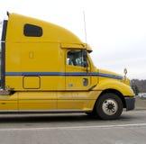 Semi táxi do caminhão Fotografia de Stock