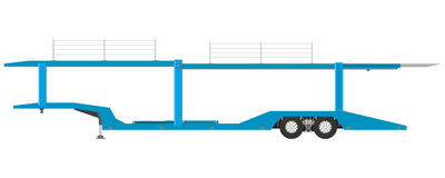 Semi-trailer car carrier Stock Photography