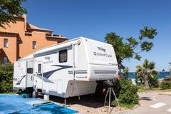 Semi trailer caravan royalty free stock photos