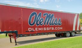 Semi-trailer with Ole Miss on it. Stock Photography