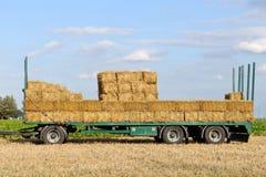 Semi trailer for transporting haystack Stock Photo