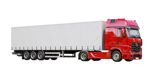 Semi-trailer truck isolated Stock Image