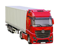 Semi-trailer truck isolated Stock Photography