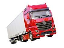 Semi-trailer truck isolated Royalty Free Stock Photos