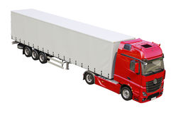 Semi-trailer truck isolated Royalty Free Stock Images