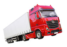 Semi-trailer truck isolated Royalty Free Stock Photography