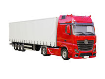 Semi-trailer truck isolated Royalty Free Stock Image