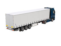 Semi-trailer truck isolated Royalty Free Stock Photos