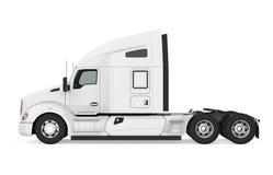 Semi-trailer Truck Isolated. On white background. 3D render vector illustration