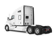 Semi-trailer Truck Isolated. On white background. 3D render royalty free illustration