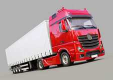 Semi-trailer truck Stock Images