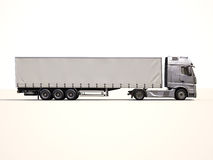 Semi-trailer truck Stock Images