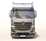 Semi-trailer truck. A modern semi-trailer truck on light background Stock Photo