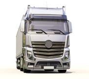 Semi-trailer truck. A modern semi-trailer truck on light background royalty free illustration
