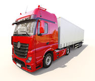 Semi-trailer truck Stock Photo