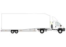 Semi trailer truck silhouette Royalty Free Stock Images