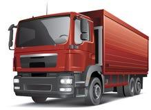 Semi-trailer truck  on white Royalty Free Stock Photo