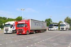Semi-trailer trucks Royalty Free Stock Photo